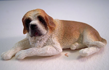 Miniature Lying Saint Bernard Dog 1:24 Scale