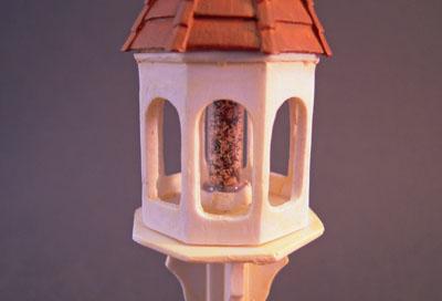 """a4063 1"""" scale falcon miniatures cream bird feeder"""