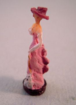 "a4080 1"" pink high fashion lady statue"
