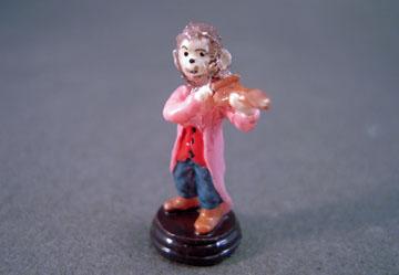 """a4217 1"""" scale monkey violin statue"""
