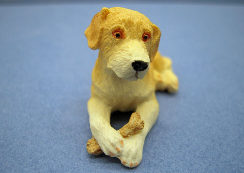 Lying Puppy With A Bone 1:12 scale