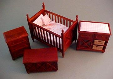 "Lee's Line 1"" scale four piece ashley nursery set"