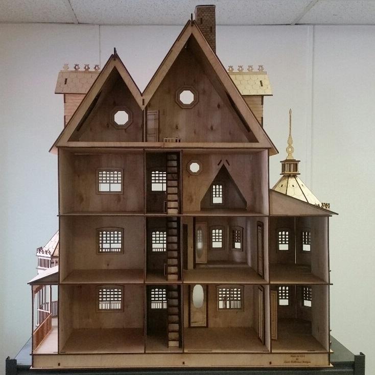 Ashley Victorian Dollhouse 1:12