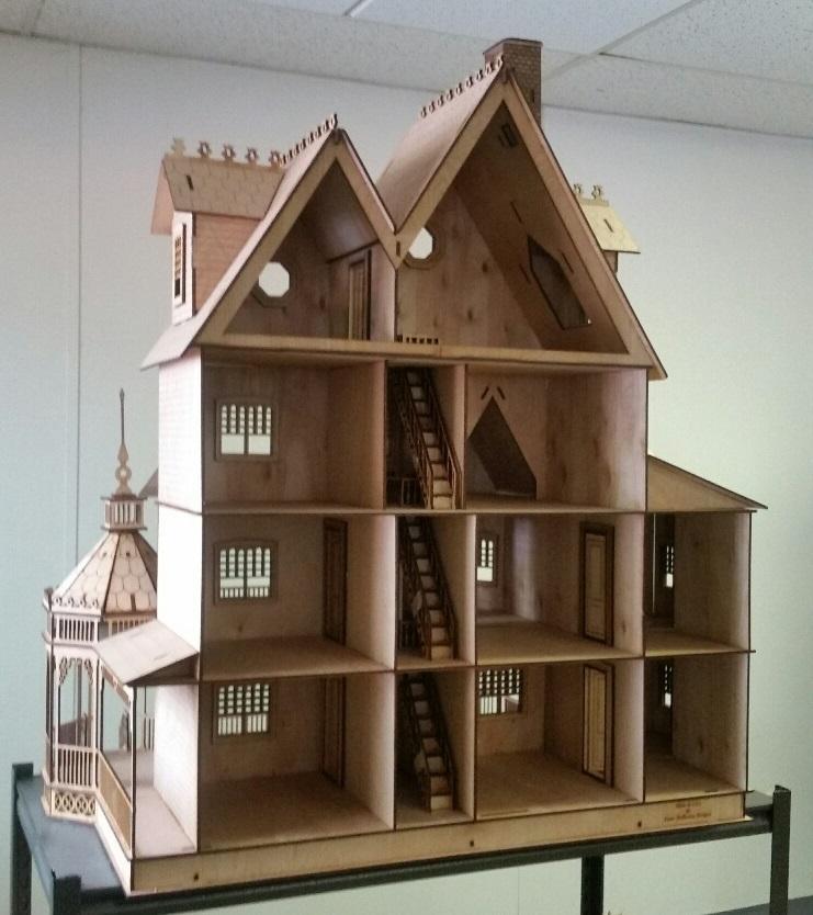 1:12 Scale Ashley Victorian Dollhouse interior