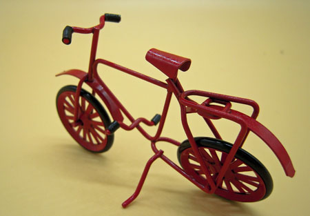 Child's Small Red Bicycle 1:12 Scale