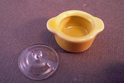 """b193 1"""" scale bright delights yellow casserole dish"""