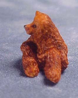 "1/2"" Scale Miniature sitting bear by J Kendall"