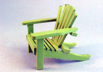 Cah 162g Green Adirondack Chair
