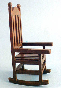 "ca173 1"" scale brown porch rocker"