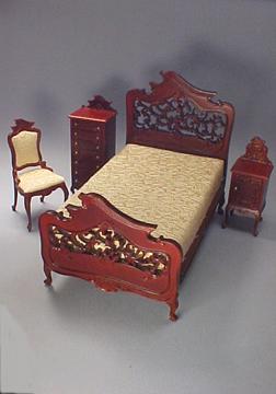 Bespaq Mahogany Carved Bedroom