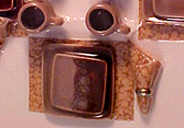 cer66bb brown on tan dinner set
