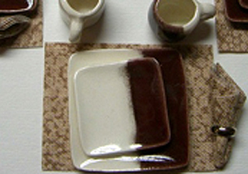 cer66d brown with white dinner set