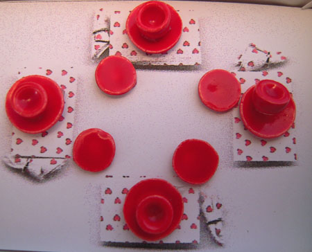 By Barb red valentine's dinner set 1:24