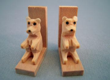 """cg04 1"""" scale miniature bear bookends"""