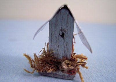 "cj08 1/2"" scale hand crafted bird house cj's miniatures"