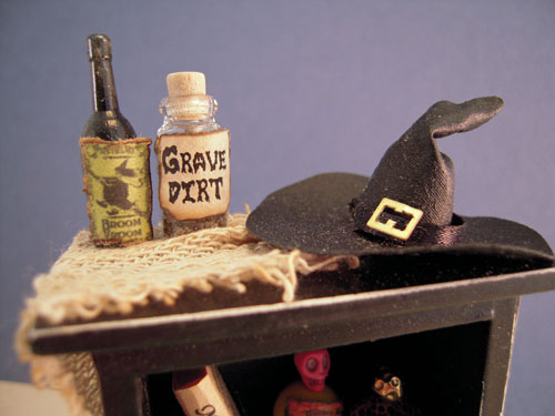 Filled Witch's Halloween Hutch 1:12 Scale