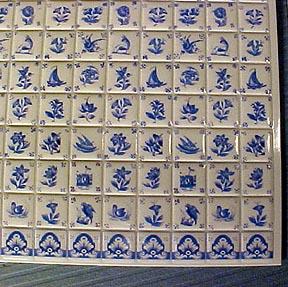 "1/2"" Scale Miniature Delft Wall Tile"
