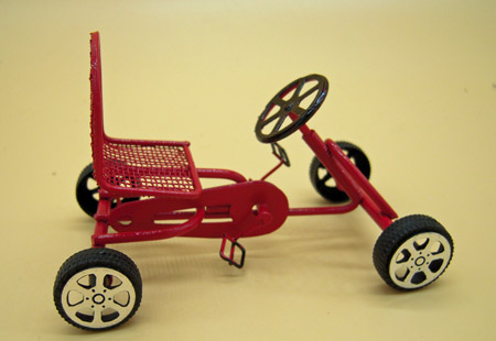 Child's Red Pedal Car 1:12 Scale