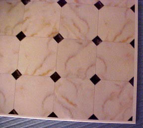 1/2 Scale Faux Tile Flooring Moniature WM24016