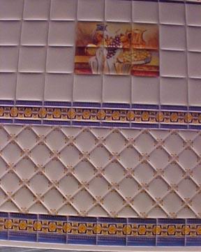 "1/2 "" Scale Miniature Fruit Wall Tile"