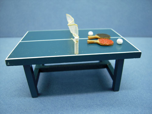 Toy Ping Pong Table Set 1:24 scale Miniatures