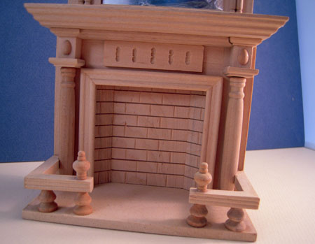 Townsquare Unfinished Fireplace With A Mirror 1:12 scale