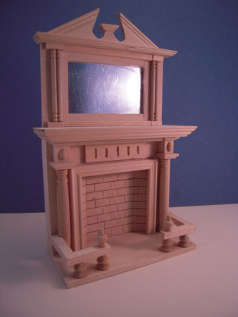 Unfinished Fireplace With Mirror by Townsquare Miniatures 1:12 scale