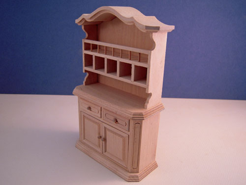 Unfinished Country Buffet Dollhouse Miniature in 1:12 scale