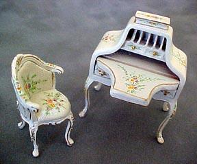 """s3255dskwset 1/2"""" hepple white desk set"""