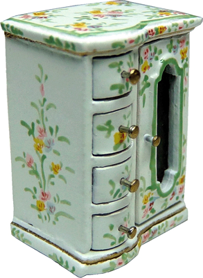 """1"""" scale Bright deLights painted jewel chest"""
