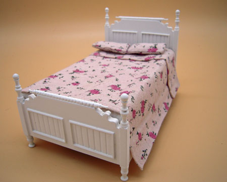 JBM Single White Bed 1:12 Scale