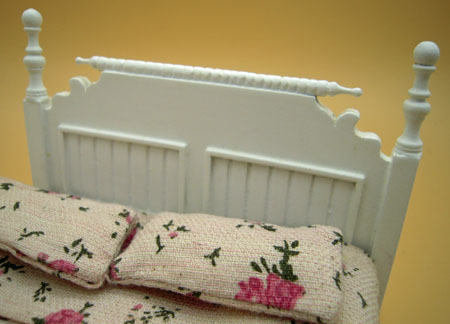 Single White Bed by JBM 1:12 Scale