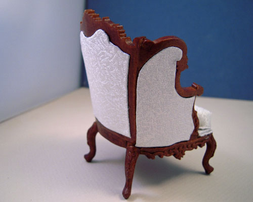 Walnut Louis XV Parlor Chair 1:12 Scale