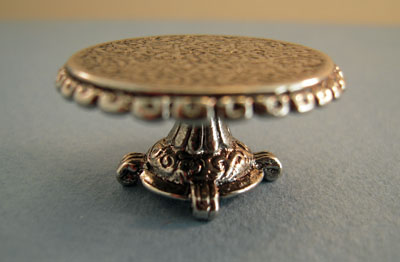 "1"" scale miniature Jeannetta Kendal Silver Cake Plate"
