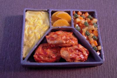"k2666 1"" scale bright delights chicken tv dinner"