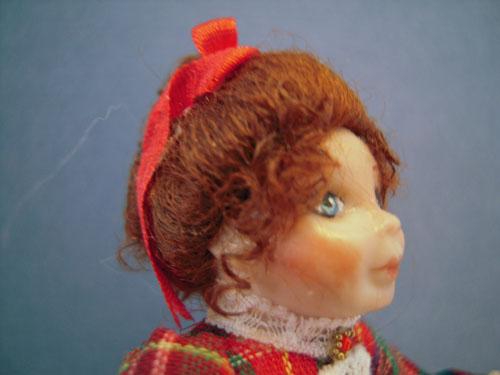 April Porcelain Miniature Doll by Loretta Kasza 1:12 Scale