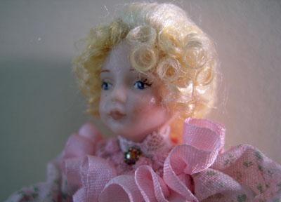 "1"" scale Loretta Kasza Clara in Pink Porcelain Doll"