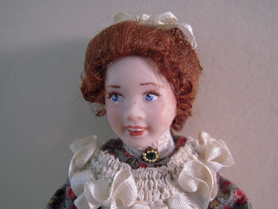 "1"" scale hand crafted Loretta Kasza Suzanne Porcelain Doll Child"