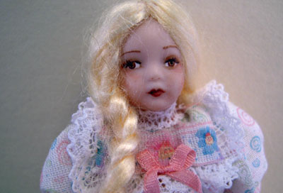 "lk137 1"" scale candy porcelain doll by loretta kasza"