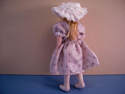 """1"""" Scale Hand Crafted Loretta Kasza Gabriella Porcelain Doll"""