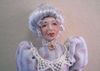 "1/2"" scale Loretta Kasza Maria In Blue Porcelain Doll"