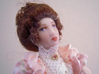 """1/2"""" scale miniature Loretta Kasza porcelain doll Belinda"""