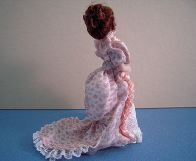 """Loretta Kasza 1/2"""" scale miniature porcelain doll Belinda"""
