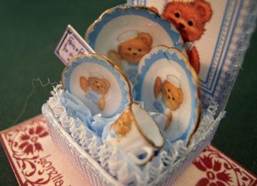 "lk838 1"" Blue Teddy Dish Box"