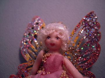 """lk872 1"""" scale loretta kasza pamela pink fairy doll"""
