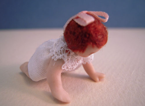 Dolls By Patsy Porcelain Baby Jennie Crawling Doll 1:24 scale
