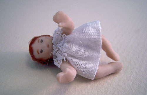 Dolls By Patsy Porcelain Baby Jennie Doll 1:24 scale
