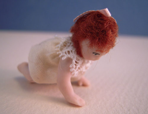 Dolls By Patsy Porcelain Baby Sally Crawling Doll 1:24 scale