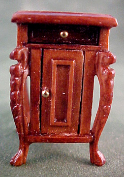 """1/2"""" Scale Miniature Fantasy Lyre Nightstand by Bespaq S3546NWN"""