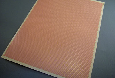 """1/2"""" scale miniature Handley House pink hexagon floor tile"""